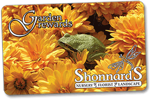 Shonnards Garden Center Discount and Rewards Card